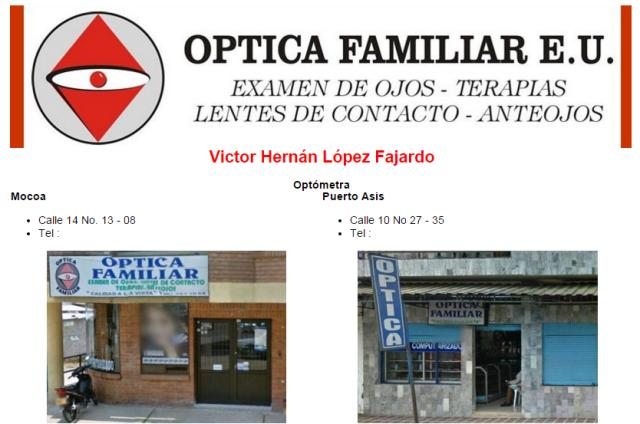 Óptica Familiar E.U.