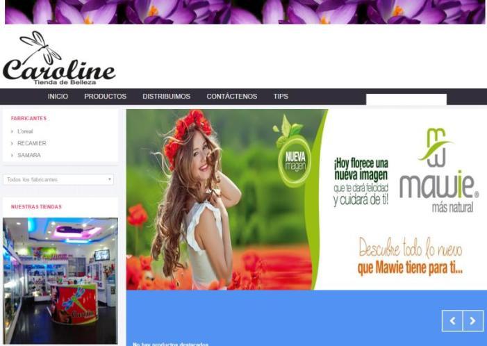 Caroline – Tienda de Belleza