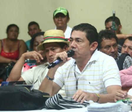 Yule Anzueta, vocero de los campesinos cocaleros del Putumayo