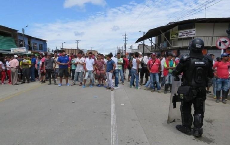 Los disturbios más fuertes se registraron en la localidad de La Dorada, San Miguel. | Foto: Mario Insuasty.
