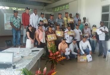 100 productores de San Miguel, La Hormiga, Orito y Puerto Asís recibieron la variedad. Foto: Corpoica.