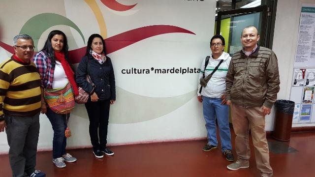 Izquierda a derecha, Miguel Canchala, Valentina Ordoñez, Diana Cardozo, Martín Caicedo y Jhoni Cerón – Docentes I.T.P: