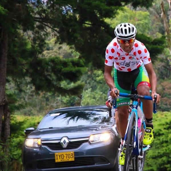 Ciclista Putumayense En Carreteras Españolas