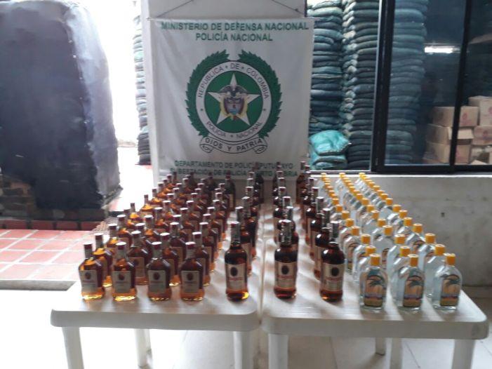 En el 2017, a la fecha, incautadas 2116 botellas de licor adulterado y de dudosa procedencia en el Putumayo