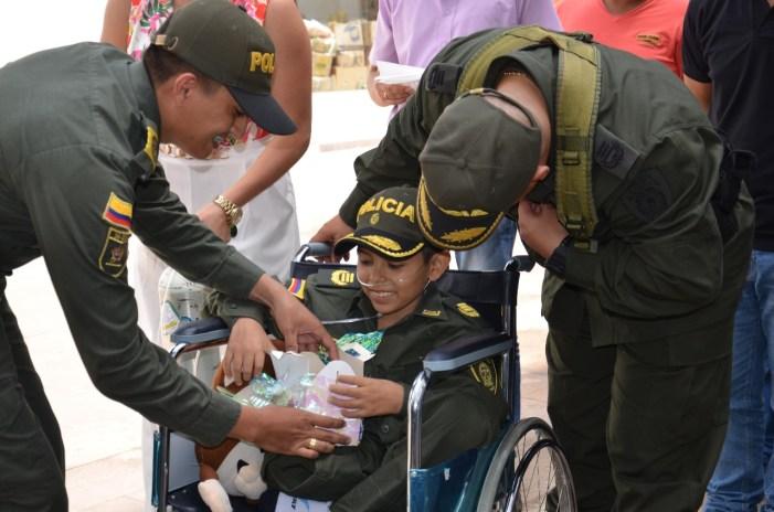 Juancho, cumplió su sueño de ser Policía por un día