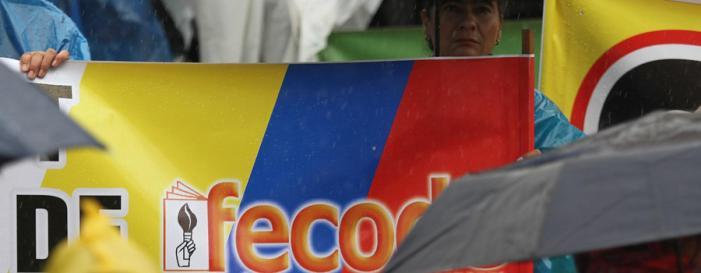 Alrededor de 700 maestros se movilizan en el Alto Putumayo