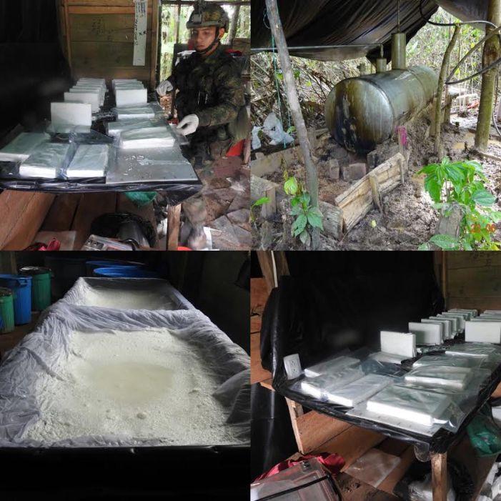 Ejercito destruye laboratorio para el procesamiento de clorhidrato de cocaína en San Miguel – Putumayo