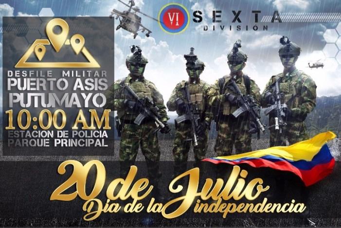 Este 20 de Julio iza tu bandera y participa del desfile de independencia en Puerto Asís