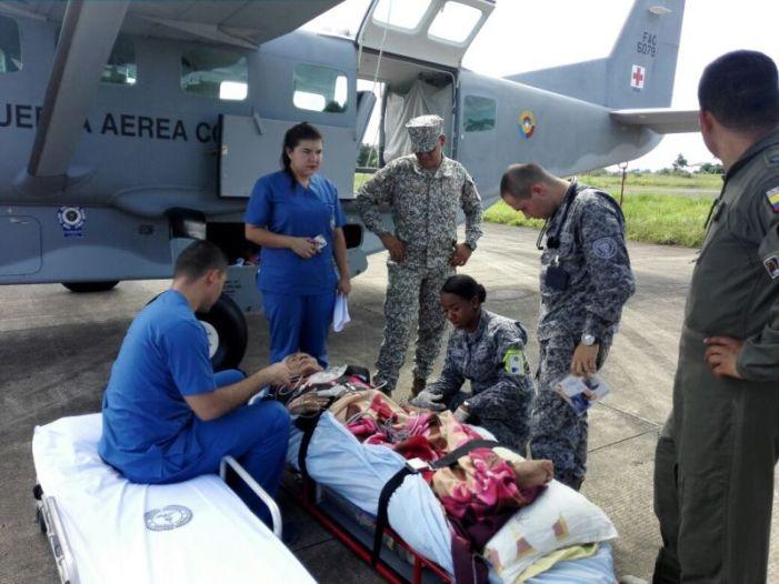 Mujer de 79 años es trasladada de urgencia a Bogotá desde Puerto Leguízamo, Putumayo