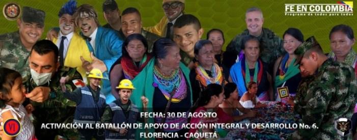 El  próximo 30 de Agosto se activará en Caquetá nuevo Batallón del Ejército para contribuir al desarrollo y progreso de la Amazonia