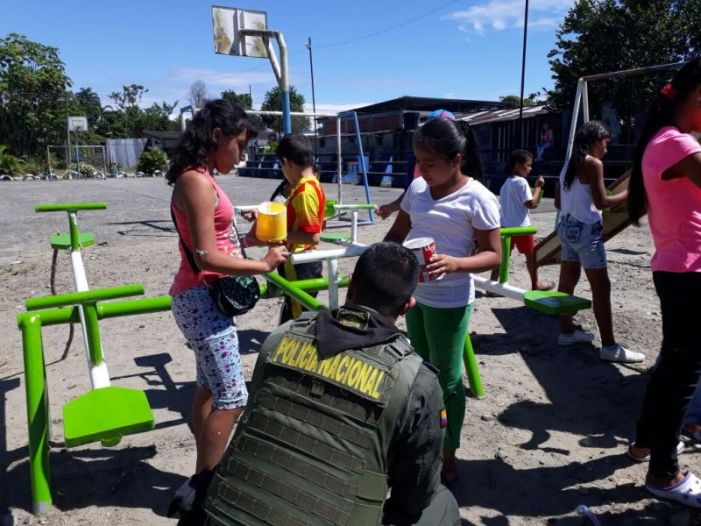 Comunidad y Policía se unen para recuperar parque en el Valle del Guamuéz