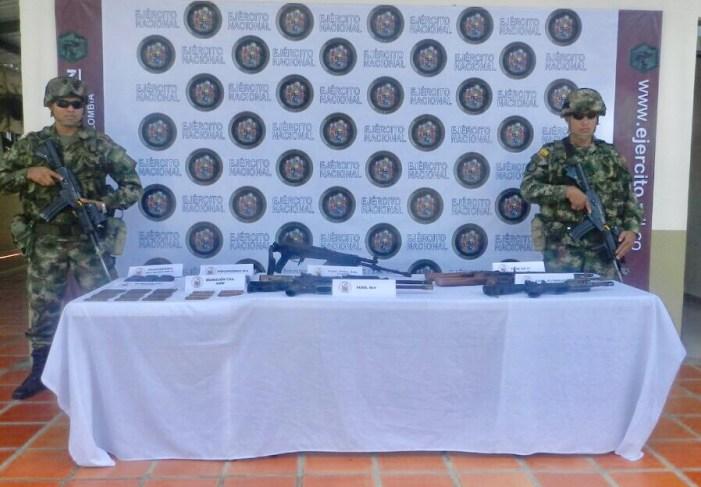 Caleta con armas y municiones fue hallada por el Ejército en Putumayo