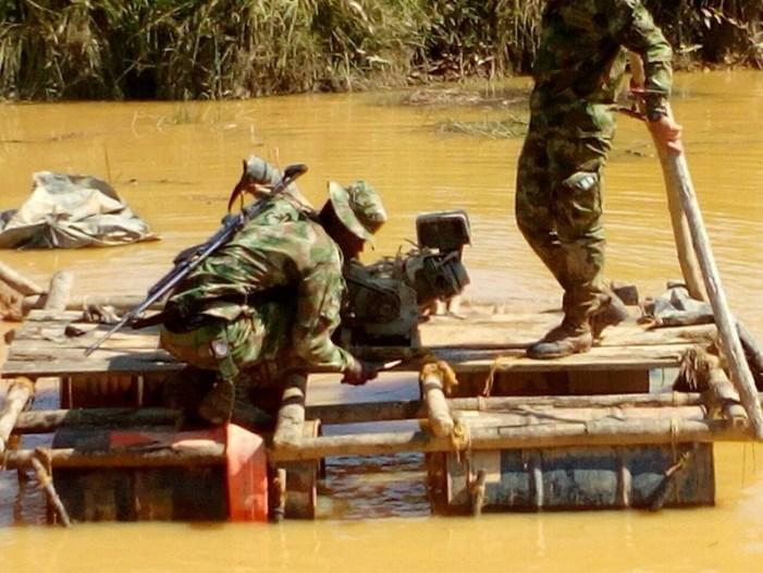 Maquinaria para la minería ilegal fue incautada por el Ejército en Putumayo