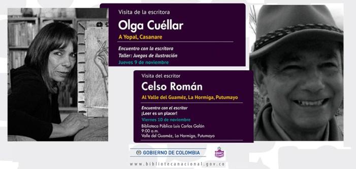 Reconocidos autores colombianos visitarán las bibliotecas del Putumayo y Casanare