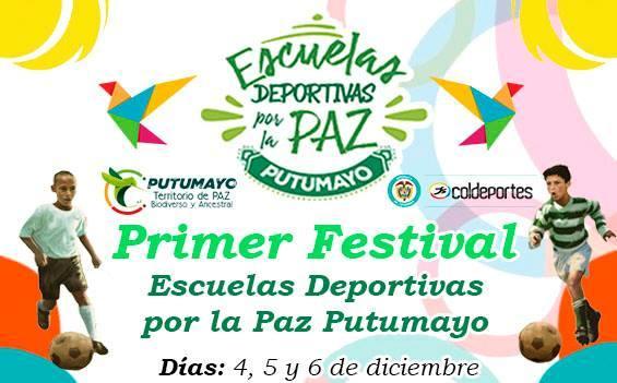 Sonrisas y alegrías se vivieron en la apertura del Primer Festival de Escuelas Deportivas por la Paz Putumayo