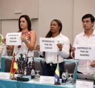 Con carteles en mano, Gobernadores del país entregan PAE al Gobierno Nacional por su desfinanciación