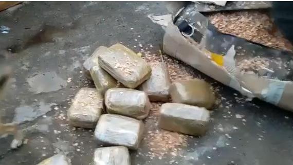 Incautada Marihuana encaletada en sacos de Boxeo