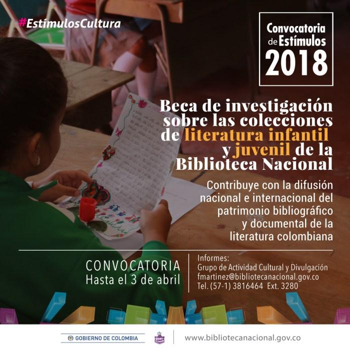 Participe en la Beca Investigaciones Colecciones Literatura Infantil y Juvenil de la Biblioteca Nacional.