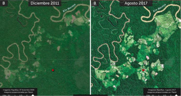 Imágenes satelitales muestran avance de la deforestación en Putumayo y Caquetá