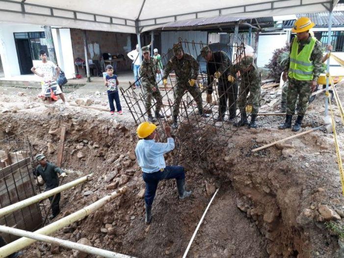 Ingenieros militares avanzan con obras de infraestructura por la reconstrucción de Mocoa