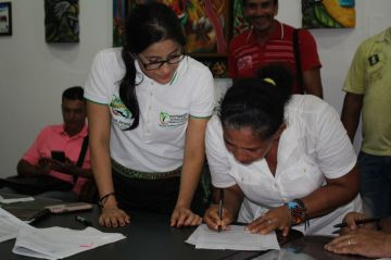Presidentes de Juntas firmaron actas de inicio de sus proyectos en convenio con las Gobernación