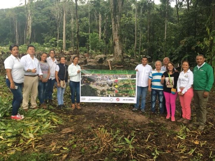 Bosques de paz Mocoa 01 Equipos de Fundación Solidaridad por Colombia, Corpoamazonía y Ministerio de Ambiente