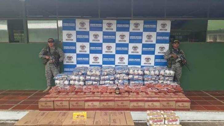 Armada Nacional incauta víveres de contrabando en el Putumayo
