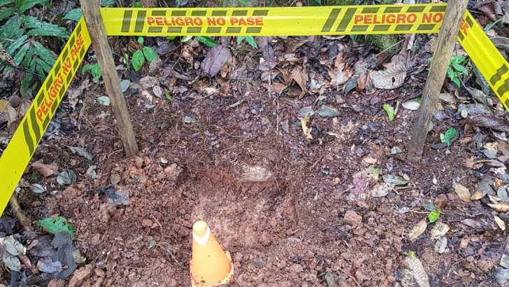 Destrucción de Mina Antipersona en zona rural de El Valle del Guamuez