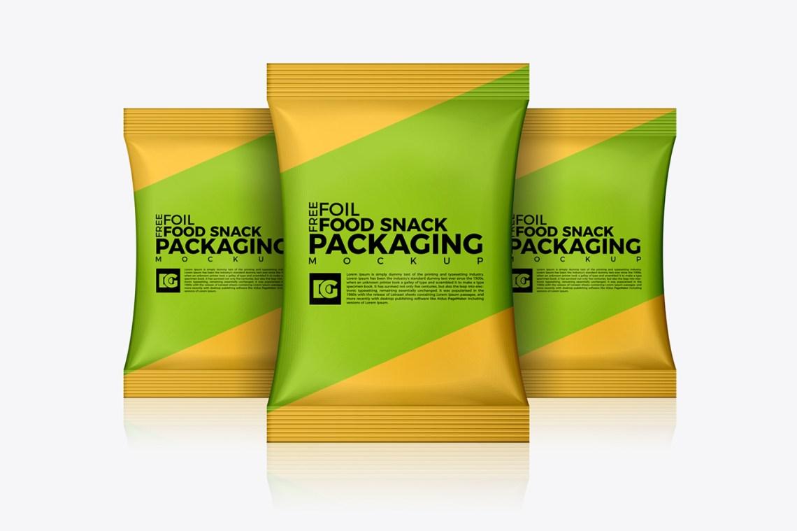 Download Free Foil Food Snack Packaging Mockup on Behance