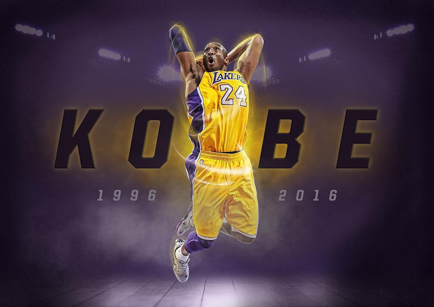 kobe bryant poster on behance