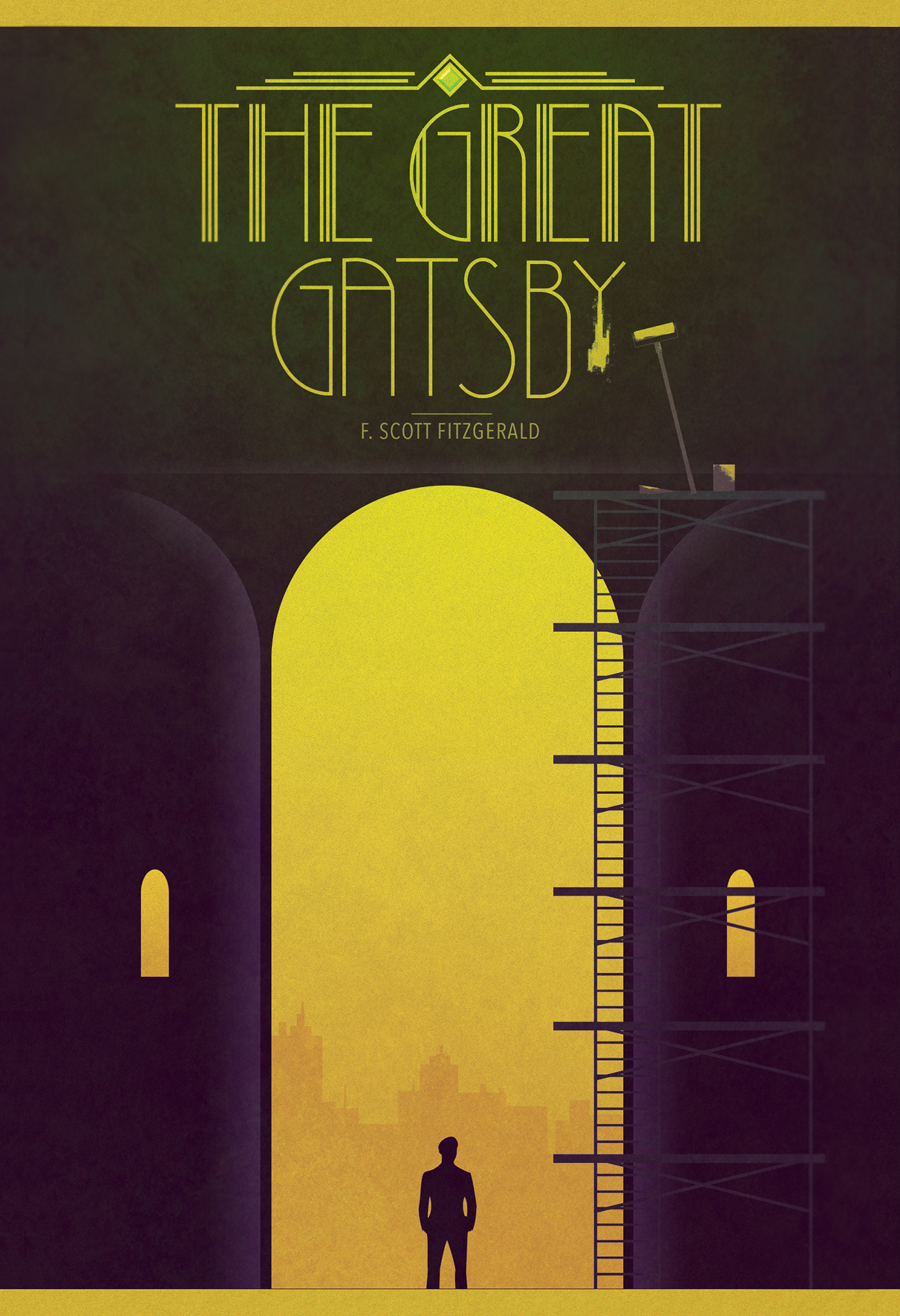 The Great Gatsby Book Cover On Behance