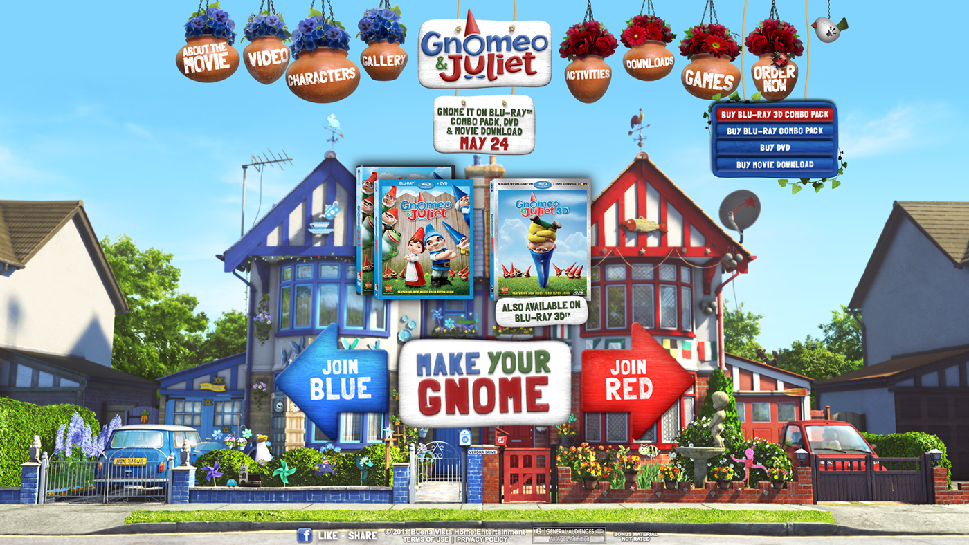 Gnomeo And Juliet Official Website On Behance