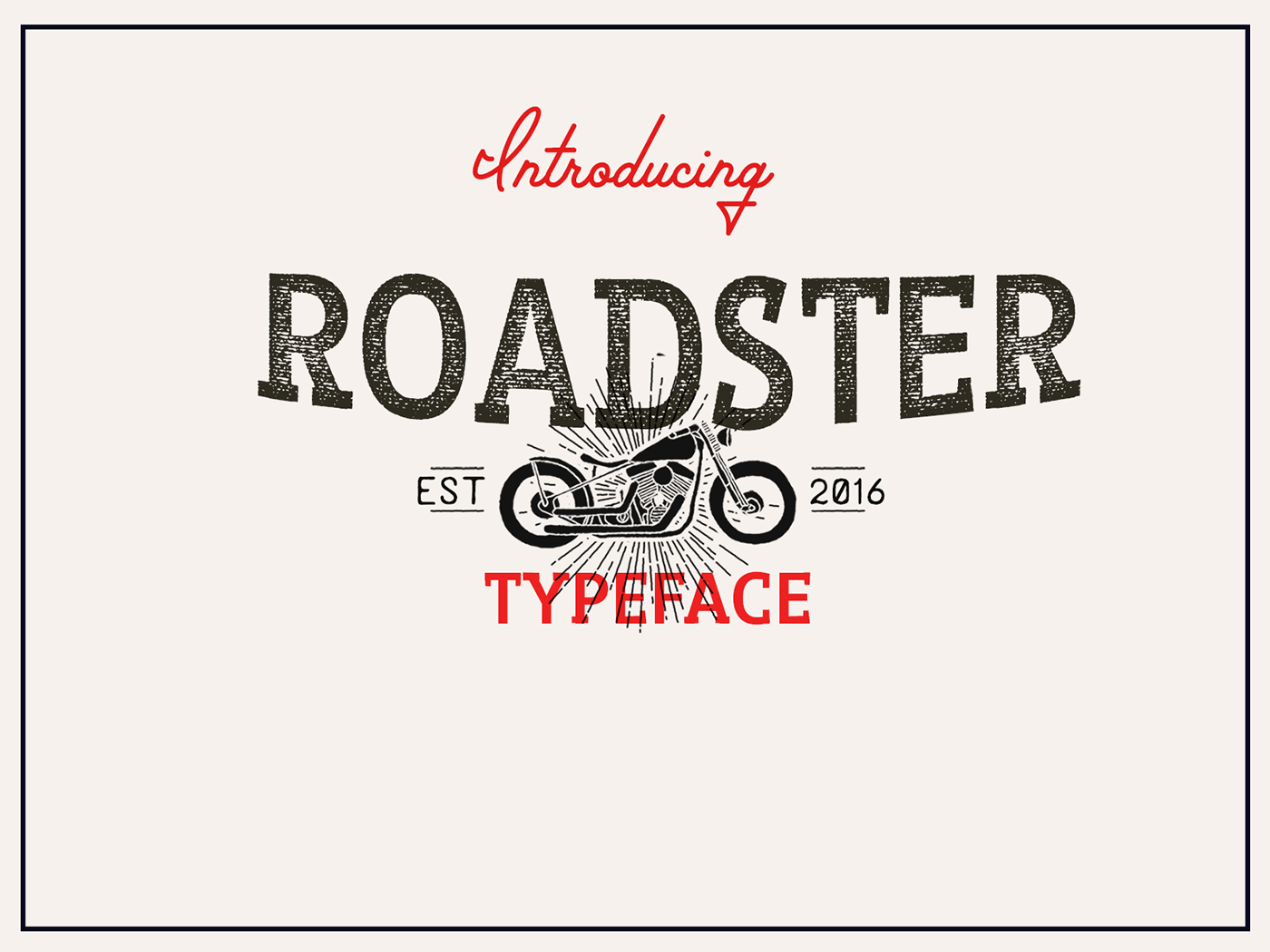 Roadster Typeface Free On Behance