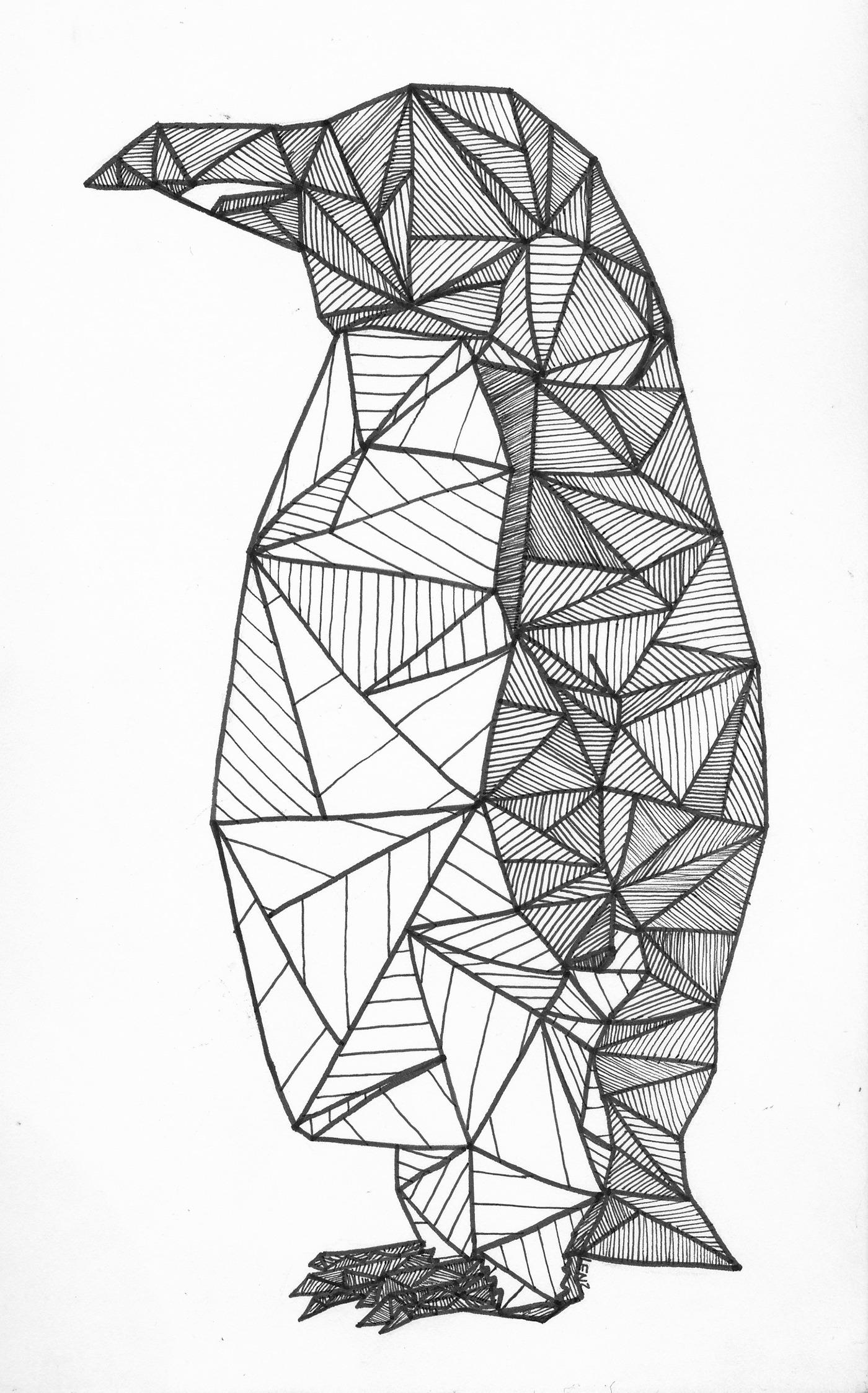 Geometric Penguin On Behance