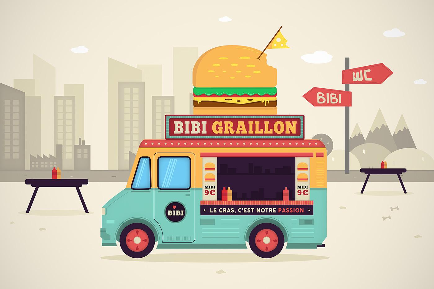 Food Truck Vector Illustration Motion Design On Behance