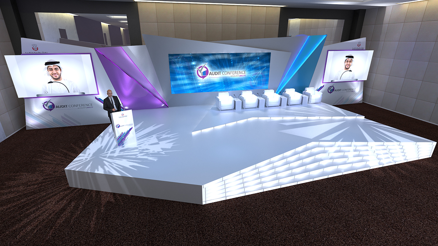 Adaa Conference Stage Design On Behance