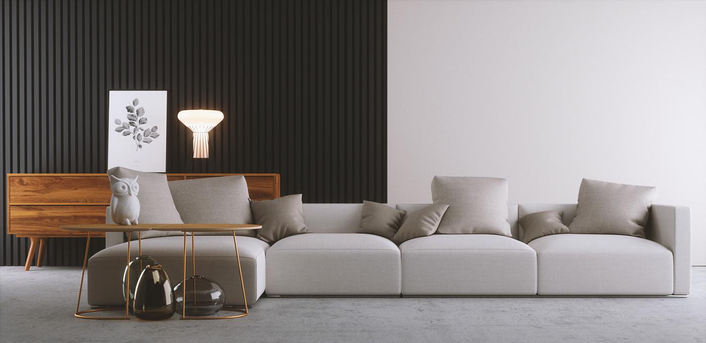 Living Room Fstorm Render On Behance