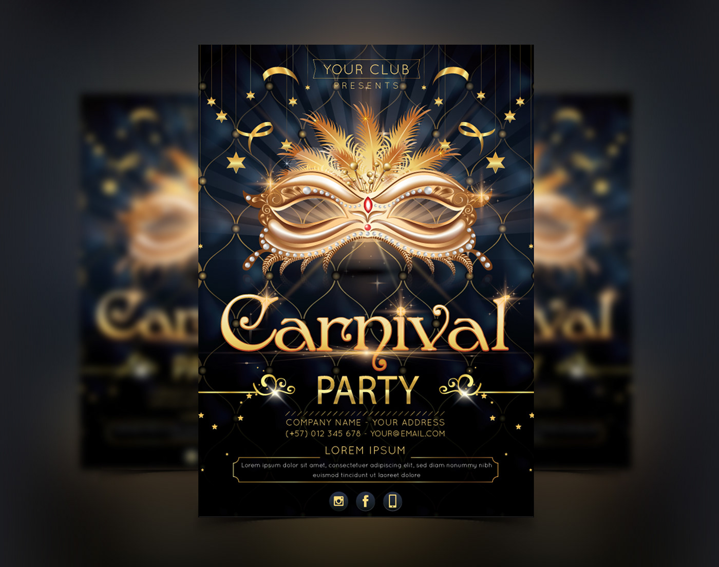 Carnival Party Invitation Template On Behance