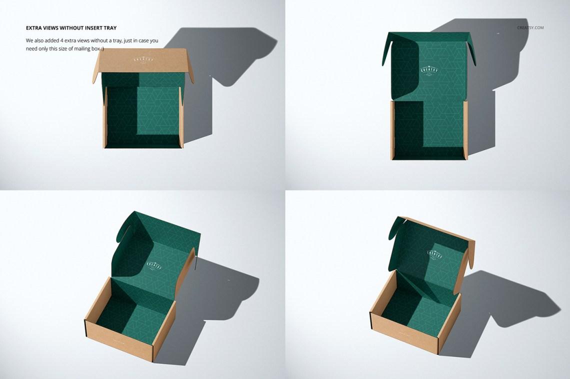 Insert Tray Generator Mailing Box Mockup Set on Behance