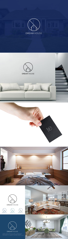 creative real estate logo house logo