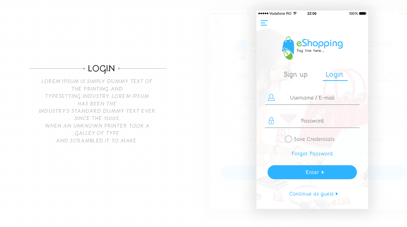 Eshopping Ios Mobile App Ui Amp Ux Inspiration Interface On