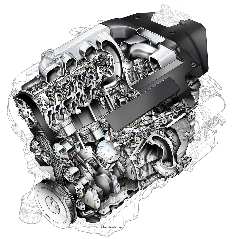 Cutaway Automotive Engines On Behance