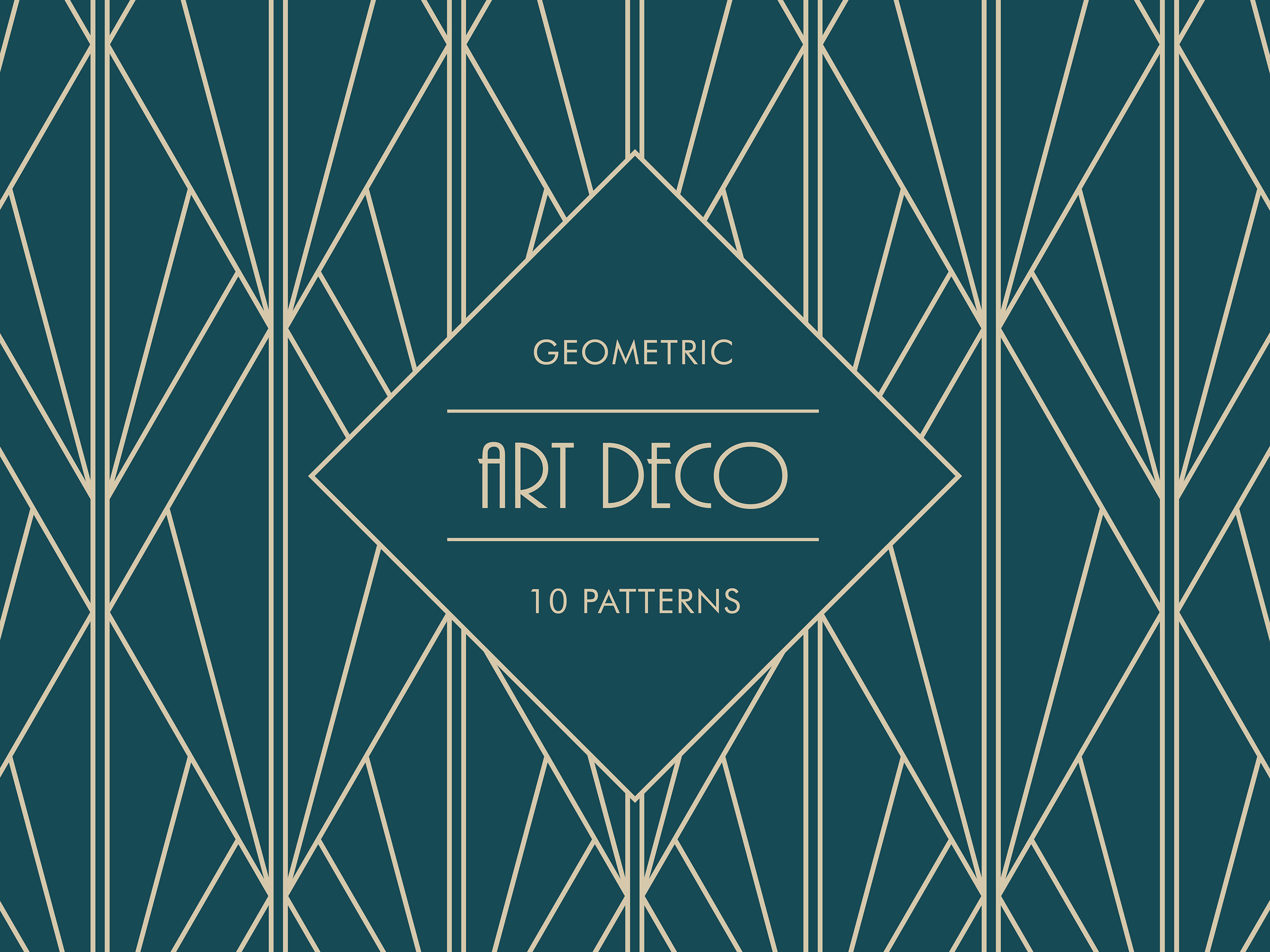 Free Download Art Deco Geometric Patterns On Behance