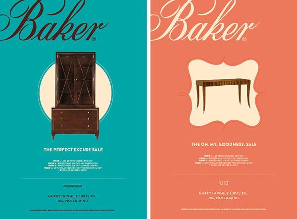 BAKER FURNITURE AD CAMPAIGN On Behance