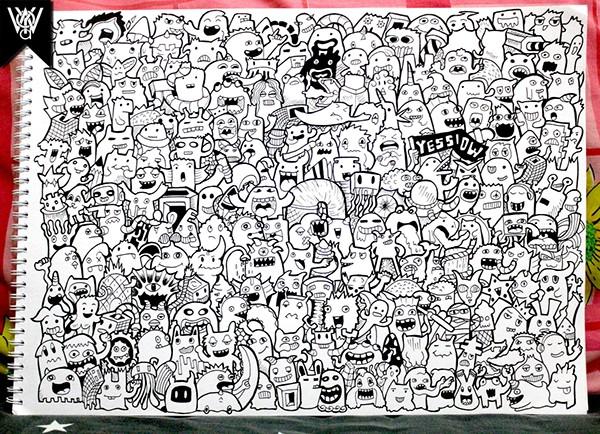 Doodle 225 Monsters On Doodle Art On Behance