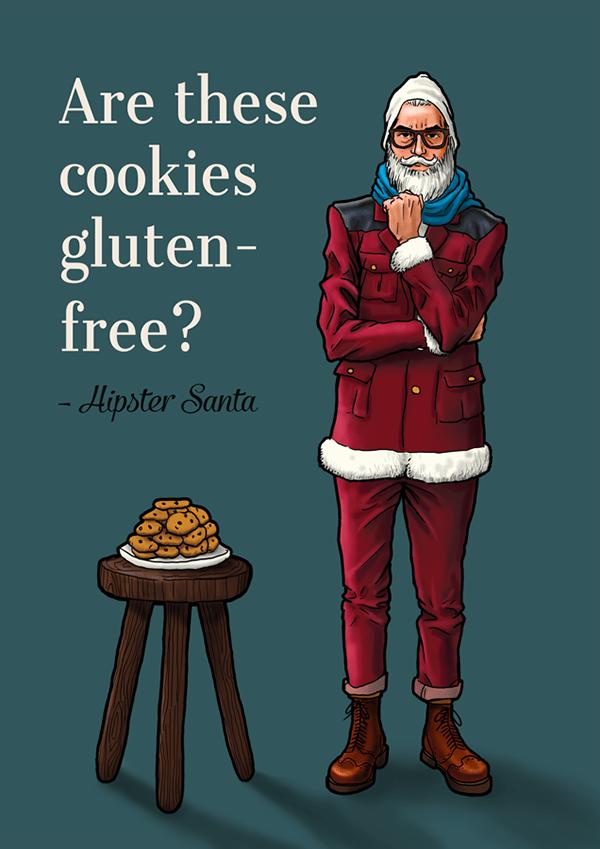 Hipster Santa On Behance