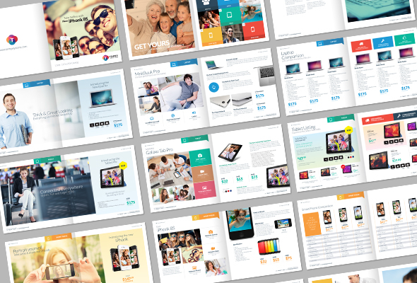 Tempey Digital Product Catalog Template On Behance