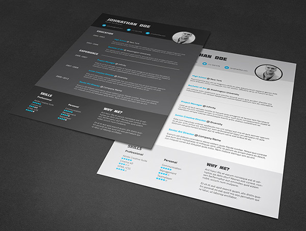very simple and eye catching cv to impress your future