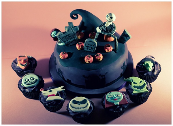 The Nightmare Before Christmas Cake Cupcakes On Behance