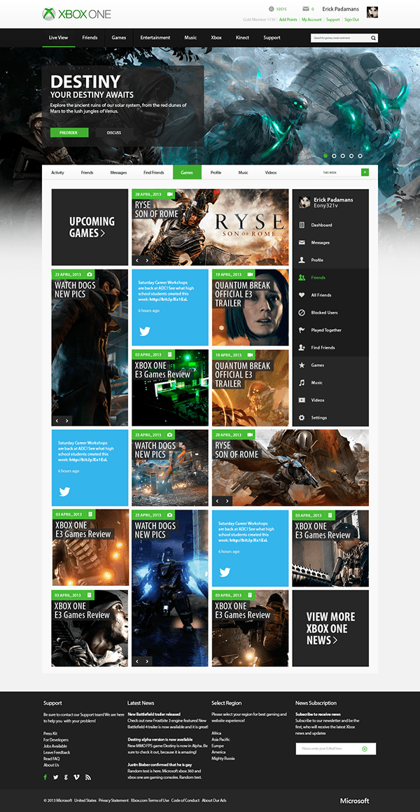 Main Page Re Design On Behance
